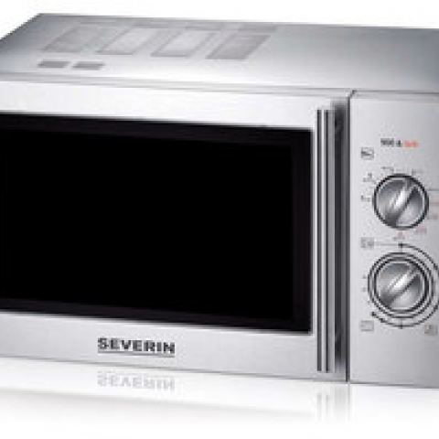 Microwave oven with grill, stainl. steel 9 power stages, approx 23 l, 900 W