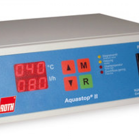 AQUASTOP® II lab. cooling water monitor flow /temperature measurement