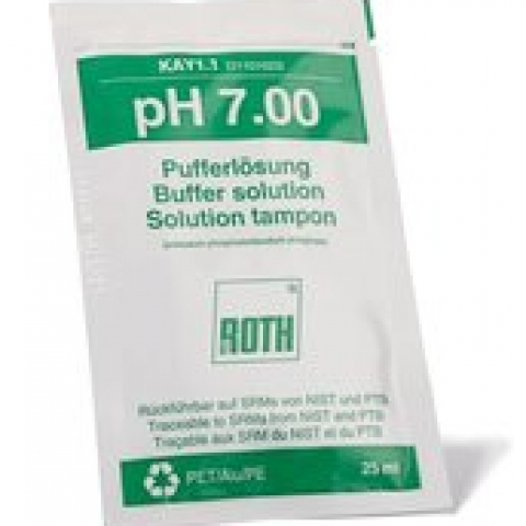 Rotilabo® pH buffer solutions pH 7,0, in bags