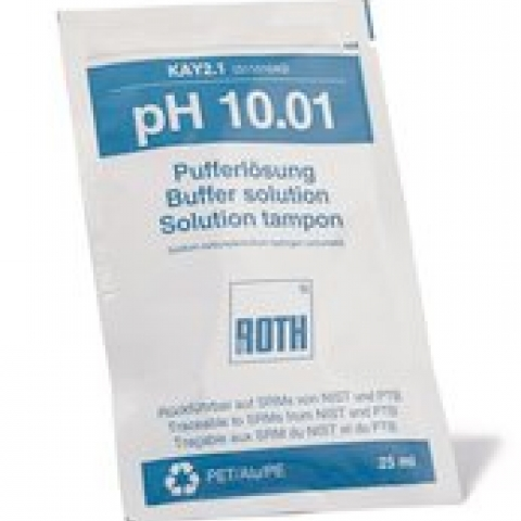 Rotilabo® pH buffer solutions pH 10,01, in bags