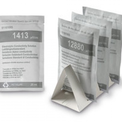 Conductivity standards, 25 ml sachets, 1413 µS/cm,
