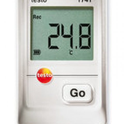 Mini data logger testo 174T, 1-channel incl. 2 batt., wall attach.,calibr.prot.