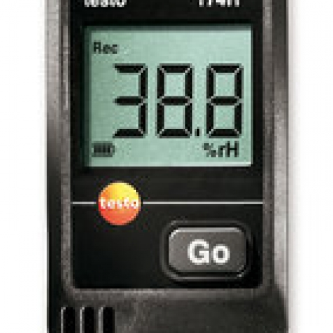 Mini data logger testo 174H, 2-channel incl. 2 batt., wall attach.,calibr.prot.