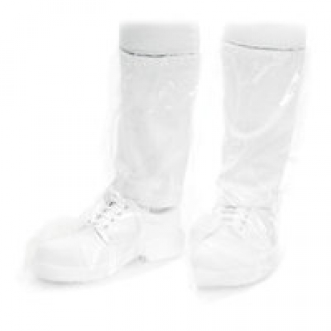 Disposable PE overboots One size fits all, L 38 x H 47 cm