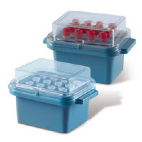 Cool. box and lid made of PC, gel-filled for 12 vials 0.5-2 ml
