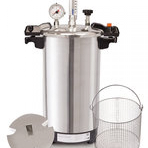 Benchtop steam steriliser CertoClav EL 18L, 125/140 °C with 1.4/2.7 bar