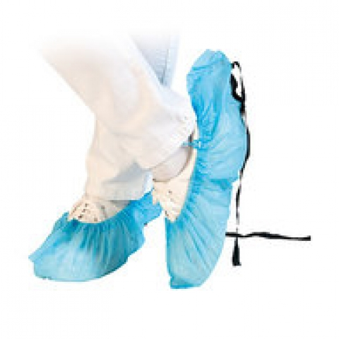 PP-fleece overschoes with antist. band blue, 46 cm