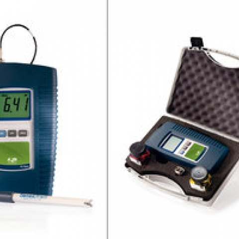 AL10 hand-held pH meters splash-proofed, 0,01-14,00 pH