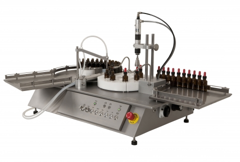 FF30 - TABLETOP FILLING AND CAPPING MACHINE